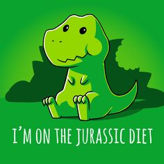 Jurassic Diet - This t-shirt is only available at TeeTurtle! Exclusive graphic designs on super soft 100% cotton tees.