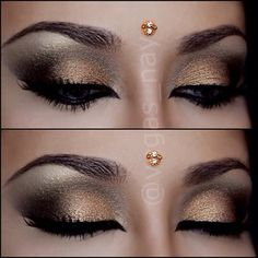 Arabic inspired eyes bronze gold eye #makeup