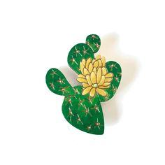Colourful Cactus Flowers Jewellery Flower Necklace, Flower Brooch, Opuntia Cactus, Laser Cut Jewelry, Cactus Flower, Photography Props, Laser Cutting, Cacti, Handmade Items