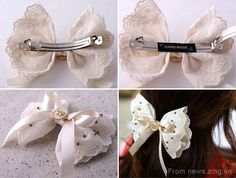 DIY Crafts : DIY make bow hair clips out of fabric
