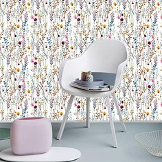 Belzesso Modern Floral Peel and Stick Wallpaper Self-Adhesive Removable Wall Decor for Home Bedroom Walls Doors Stairs Cabinets, 118.11in Length x 17.7in Width (1)