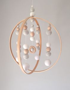 This isn't a DIY post, but it's great inspiration. Could use sewing hoops and air-dry clay!