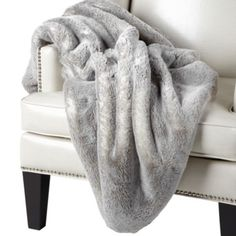 I realize it's a fading trend but I still want one. FAUX Chinchilla Throw - Grey | Z Gallerie