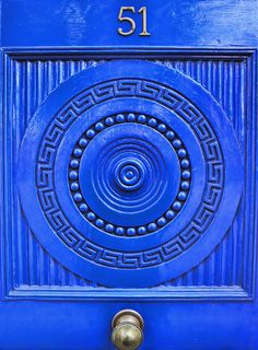 Azure blue door, Squaring The Circle by Steve Richards (Badger) on Flickr