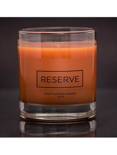Man Cave Candle in Reusable 8 oz Whiskey Glass - Scented with Masculine Acqua di Gio Fragrance - for the Cool Modern Stylish Classy Sophisticated Gentleman Hand Made in USA ❤ Reserve Candles