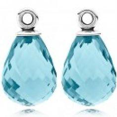 PANDORA ICE BLUE FASCINATING BEAUTY COMPOSE EARRINGS!