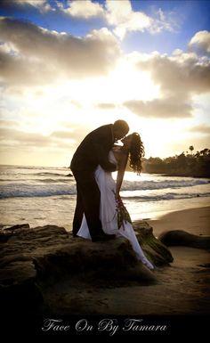 Beach wedding photo Beach Wedding/beach elopement Orange County, Ca. www.faceonbytamara.com