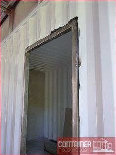 How to Install A Door in A Shipping Container House? #houseideas #container #Containerhome #Containerideas