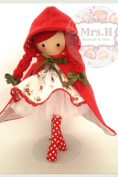Miss Red www.facebook.com/mrshmakesdolls Tiny Dolls, Soft Dolls, Fabric Dolls, Paper Dolls, Rag Dolls, Clothespin Dolls, Sewing Dolls, Doll Maker, Waldorf Dolls