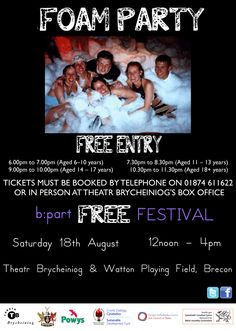FREE Foam Party!  Get your tickets now!