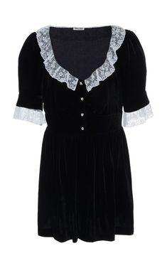 Lace-Trimmed Mini Dress by Miu Miu | Moda Operandi
