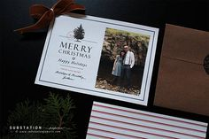 Christmas Cards - Holiday Photo Cards by Substation Paperie