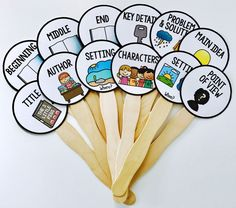 FREE- Retelling sticks to help retell the parts of a story