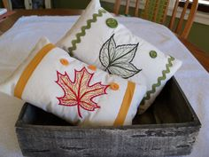 Autumn Fall Thanksgiving Lacey Leaf Small by PerfectStitches, $22.00