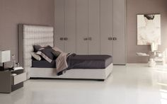 Double bed Sanya High headboard Flou