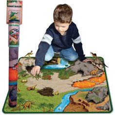 Neat-Oh! Dinosaur Prehistoric World 2-Sided Playmat, Multicolor