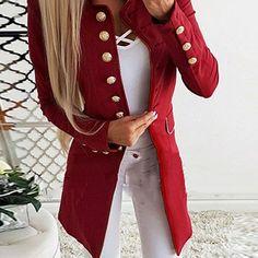 Compre Vestido Casaco Mulheres Sólida À Moda V Neck Double Breasted OL Trabalho Blazer Vestidos De Inverno Vestido De Manga Longa Mini Vestido Da Moda