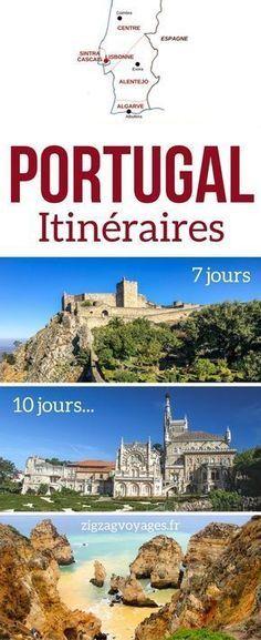Portugal Voyage - Guide pratique pour planifier votre Road Trip au Portugal avec des conseils et des suggestions d'itinéraires au #Portugal pour 1 semaine, 10 jours où plus | Portugal itinéraire | Portugal vacances