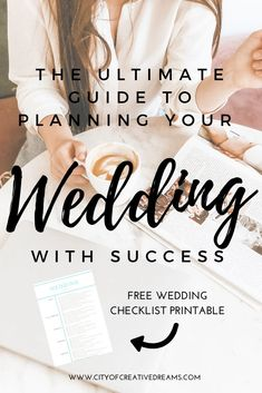 timeline checklist printable check lists The Ultimate Guide to Planning your Wedding with Success - City of Creative Dreams Wedding Planning Binder, Wedding Planning On A Budget, Plan Your Wedding, Wedding Planner, Budget Wedding, Wedding Blog, Wedding Ideas, Wedding Checklist Printable, Wedding Checklists