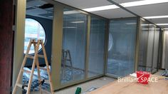 Glass System Wall 怡和大廈 (厚框雙層清玻璃屏風-內置百葉 Double Clear Glass Panel with blind) 1
