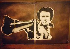 Dirty Harry spraypaint stencil work