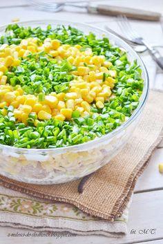 Z miłości do słodkości...: Warstwowa sałatka z tuńczykiem i ryżem Vegetables, Recipes, Food, Recipies, Essen, Vegetable Recipes, Meals, Ripped Recipes, Yemek