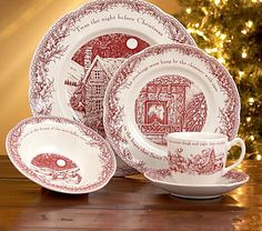 """twas the night before christmas"" china. I have this set and it is even more beautiful in person!"