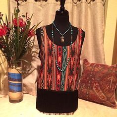 Aztec and fringe   Cheerful Heart Gifts - Granbury, TX