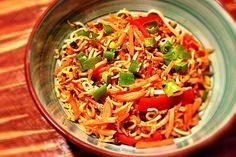 Asia-Nudelpfanne mit Sojahack und Gemüse (Rezept mit Bild)   Chefkoch.de