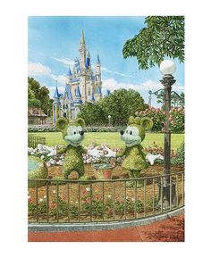 Art in the Garden Mickey and Minnie Giclee Web