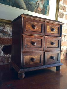 Antique Victorian Apprentice Chest Small Chest by lovelytradings