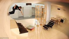 Skate Board House. My kids would live in this house if they could.