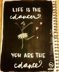 """Life is the dancer. You are the dance."" Day 24/365 #artjournalchallenge  #inspire365 #MinnieIgneArt #mixedmediaartist #artist #artjournaling #artjournal #inspirequotes #dance #dancer #hawaiibornartist #caliartist #hawaiiartist #handwritten #typography #cursive #inspiringthroughcreativity #liftupothers"