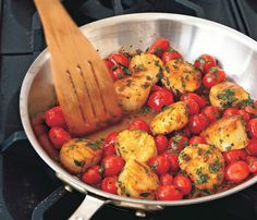 Sautéed Scallops with Cherry Tomatoes, Green Onions, and Parsley Recipe on Yummly