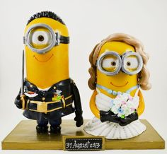 minions wedding cake topper - Google Search