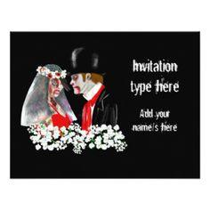 "Customize Zombies wedding bride groom accessories 4.25x5.5 Paper Invitation Card (<em data-recalc-dims=""1"">$2.06</em>)"