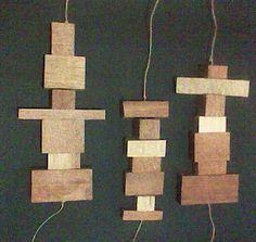 Pendulos / Mobiles em madeira reciclada ....