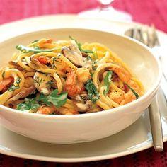 Weight Watchers Prawn & Mushroom Pasta