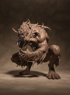 ArtStation - Werewolf, Rodion Vlasov Fantasy Creatures, Mythical Creatures, Imprimente 3d, Werewolf Art, Monster Concept Art, Sculpture Clay, Kawaii Art, Creature Design, Art Studios