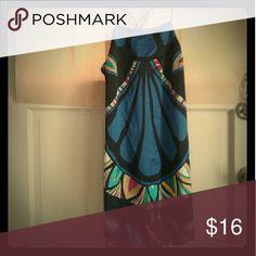 Multi Color Print Cross Back Mini Dress Size Medium Dresses Mini