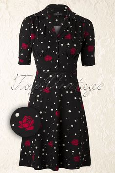 King Louie - 40s Roses And Snowdrops Diner Dress