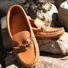 Best Durable Men's Genuine California Tan Leather Handmade Moccasins - 189