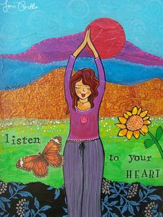 Let this be your homework today: Listen to your heart. :: Print by Lori Portka