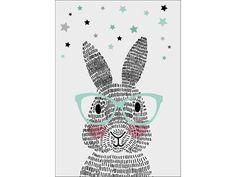 Sparkling paper poster mr. rabbit
