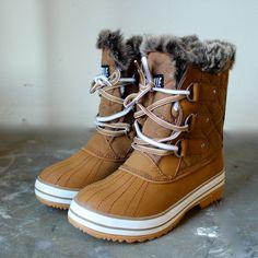 tan fur snow boots – shop hearts