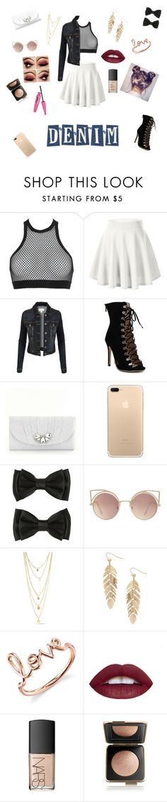 """""""Date night in denim"""" by kenzielove101 ❤ liked on Polyvore featuring Dsquared2, LE3NO, Kate Landry, MANGO, Humble Chic, Sydney Evan, NARS Cosmetics and Estée Lauder"""