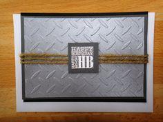 Handmade men's happy birthday card for Dad