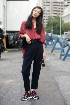 Street Style: Sunghee Kim's Slouchy Masculine Look