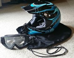 Womens Small Dirt Bike Helmet DOT cert. With Goggles For Sale!