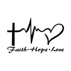 Items similar to Faith Hope Love Vinyl Decal Sticker Car Truck Boat Decal Window Sticker Kayak Decal on Etsy Tattoo Kind, 16 Tattoo, Love Tattoos, Body Art Tattoos, Small Tattoos, Tattoos For Women, Tattoo Quotes, Tatoos, Hope Tattoo Symbol